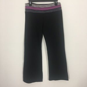 Lululemon Black Reversible Capri Yoga Pants